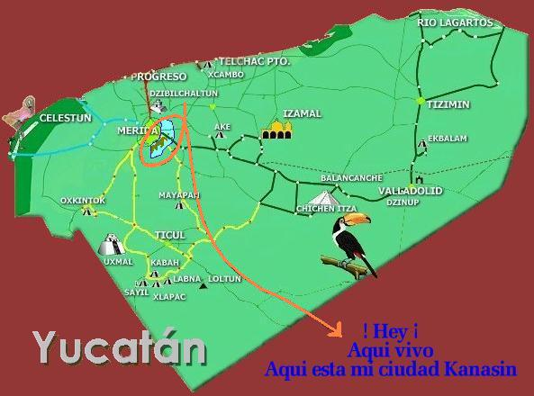 Kanasin Yucatn Mxico Ubicacin en el mapa Yucateco